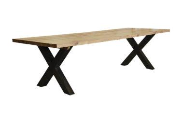 Castle tafel X-poot zwart