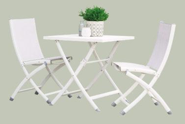 Piega vouwtafel en 2 vouwstoelen