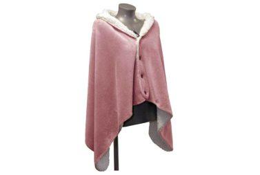 Mantelplaid roze