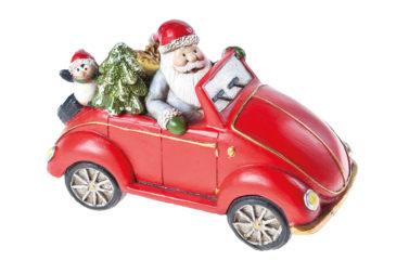 PROMO Auto met kerstman 15,5 x 8 x 10cm