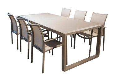 Set tafel Palermo + 6 stoelen Palermo