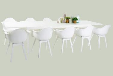 Setprijs 10 Stoelen Dali + uitschuifbare tafel