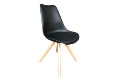 STACEY STOEL wit of zwart met houten poot of zwart met zwarte poot