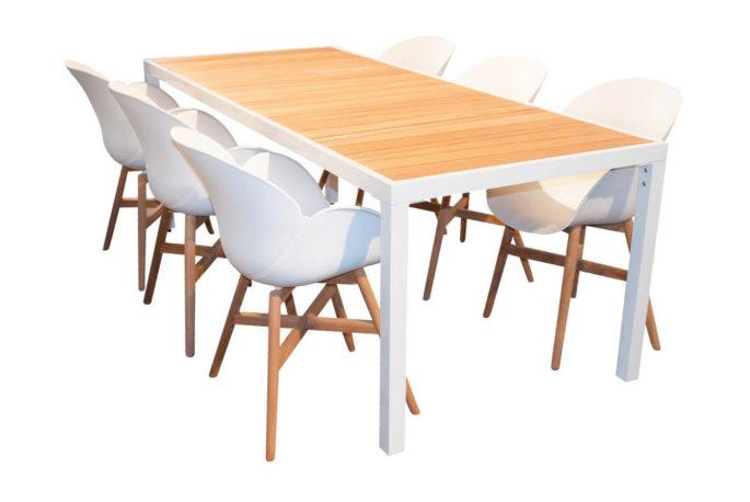 Tafel Mazzamiz 210 + 6 stoelen Milow