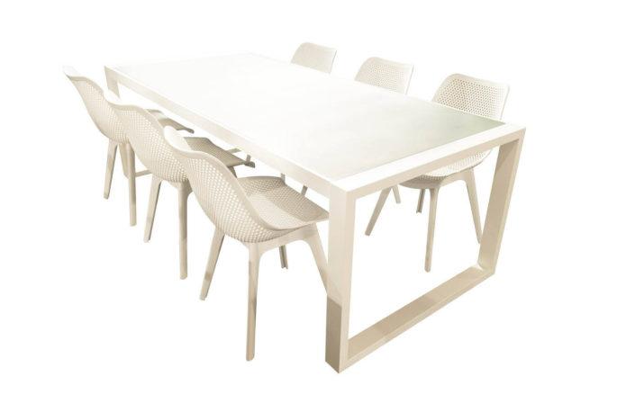Tafel Palermo 220 + 6 stoelen Zora