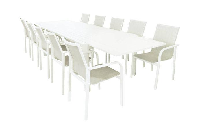Uitschuifbare tafel Tyson + 10 stoelen Torino